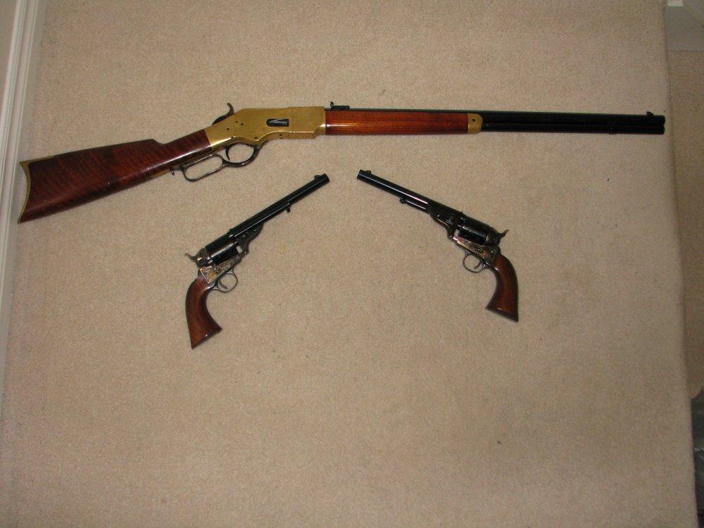 Classic Cowboy Guns 1871 Open Tops and 1866 Yellow Boy (3).JPG