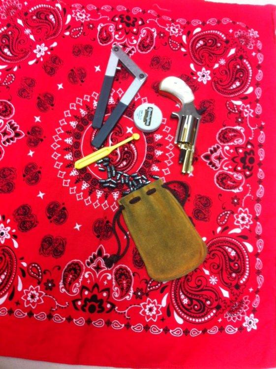 NAA 22 mag, Cap & ball revolver.JPG